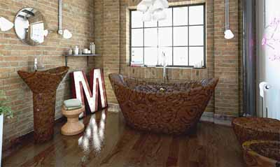 chocolate bathroom