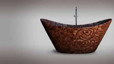 chocolate bathroom