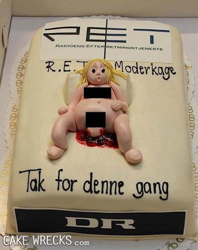 gross baby cake