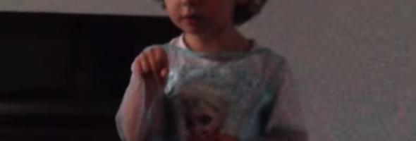 toddler singing frozen