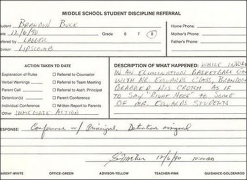 funny detention notes