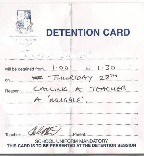 27 super funny detention notes dose of funny for Detention notice template