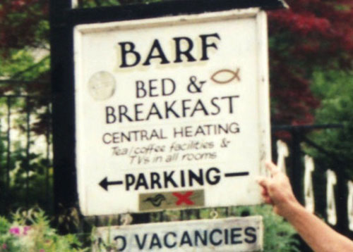 Funny Bed And Breakfast Names