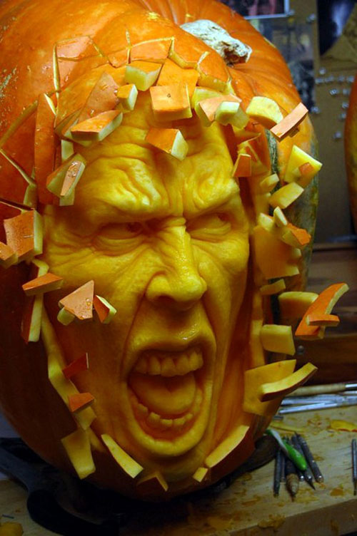 Awesome Halloween Pumpkins Part - 17: Funny-halloween-pumpkins-carving-10