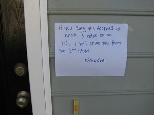 Funny Notes People Left On Their Doorbells
