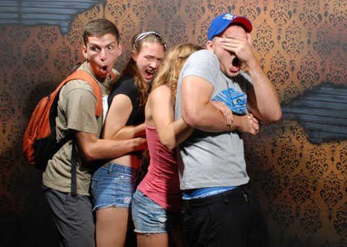 funny haunted house